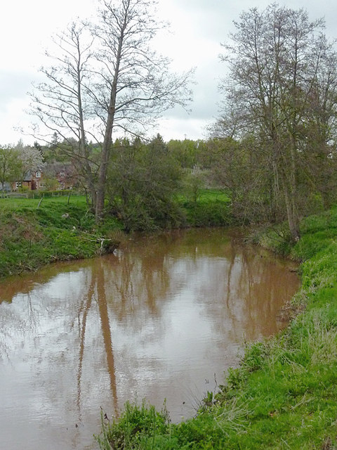 The River Rea near Newnham Bridge, Worcestershire