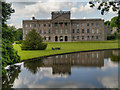 SJ9682 : Lyme Hall, South Lawn and lake by David Dixon