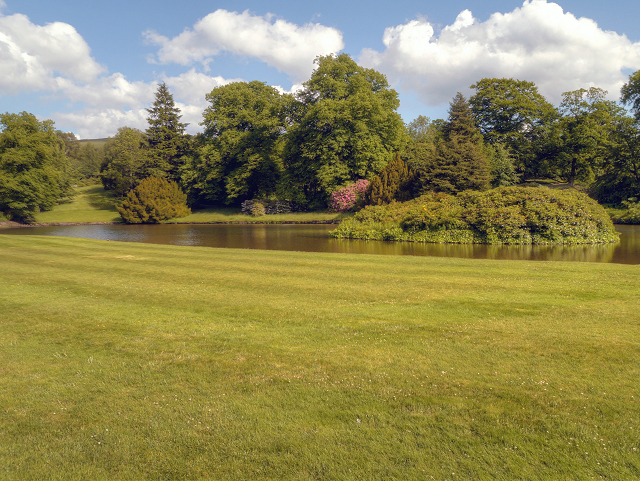 The South Lawn and Reflection Lake