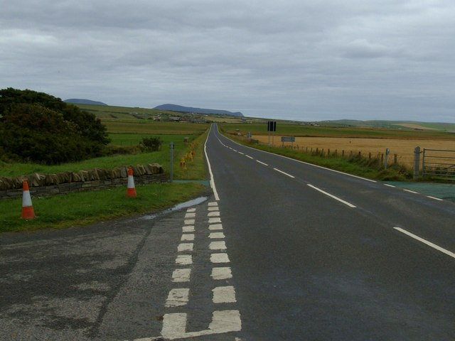 View from Tormiston Mill towards Stenness 'Village'