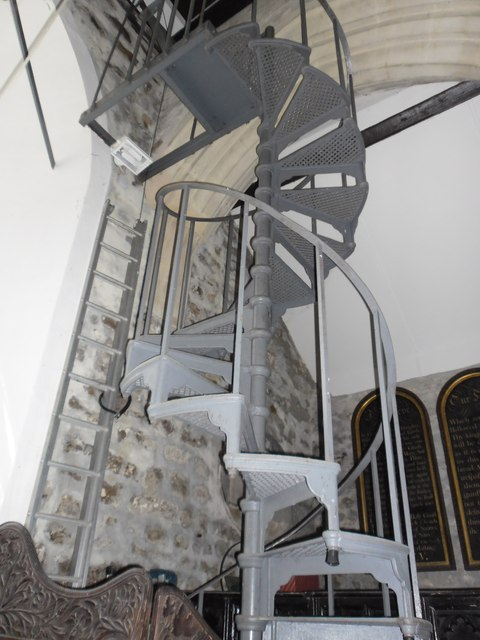 St Michael and All Angels, Sopley: staircase