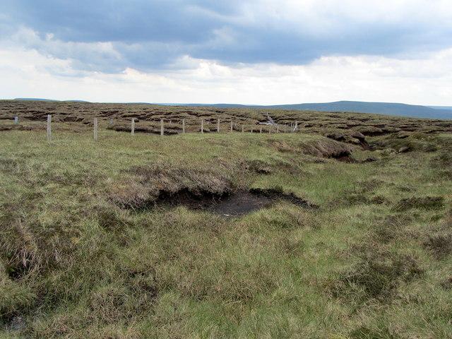 Peat Groughs on Yockenthwaite Moor