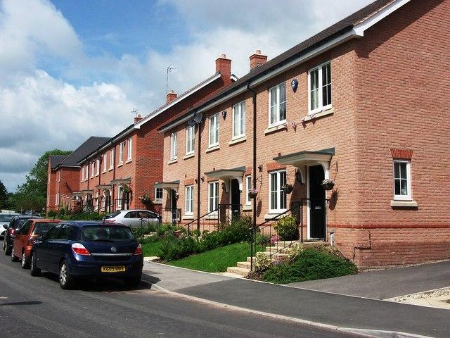 New houses, Wattons Lane, Southam