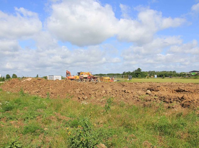 Building works near Cambridge Services A14