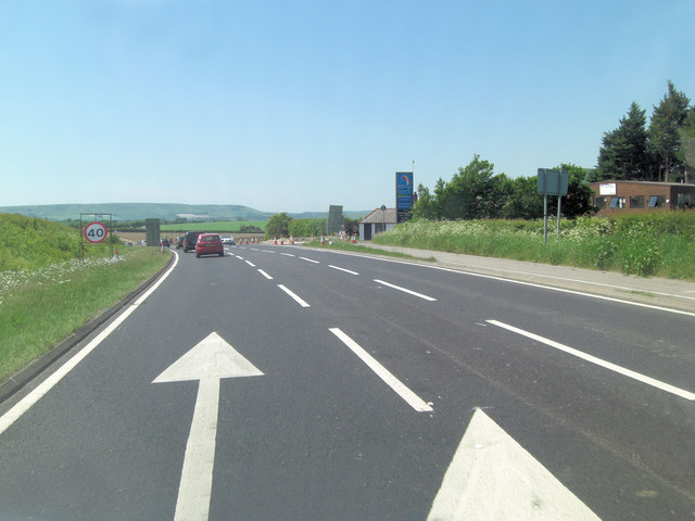 A27 descends into the Ouse Valley