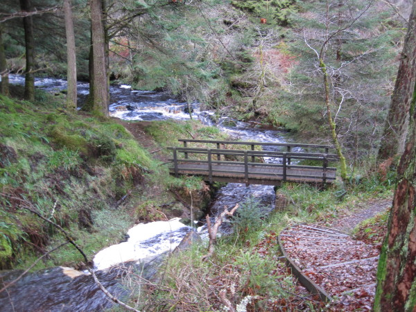 Footbridge and Confluence of Hinhope and Blakehope Burns