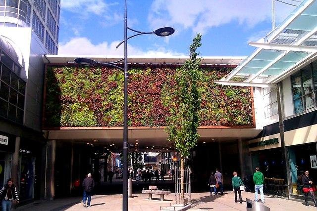 Green S 90 >> Living wall, Brunel Centre, Swindon © Brian Robert Marshall :: Geograph Britain and Ireland