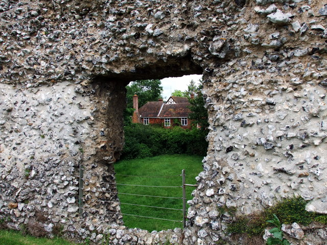 Through Eynsford Castle window