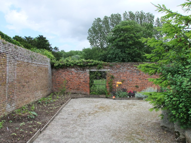 Gate in Walled Garden at Lullingstone Castle