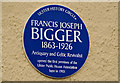 Photo of Francis Joseph Bigger and William Turner blue plaque
