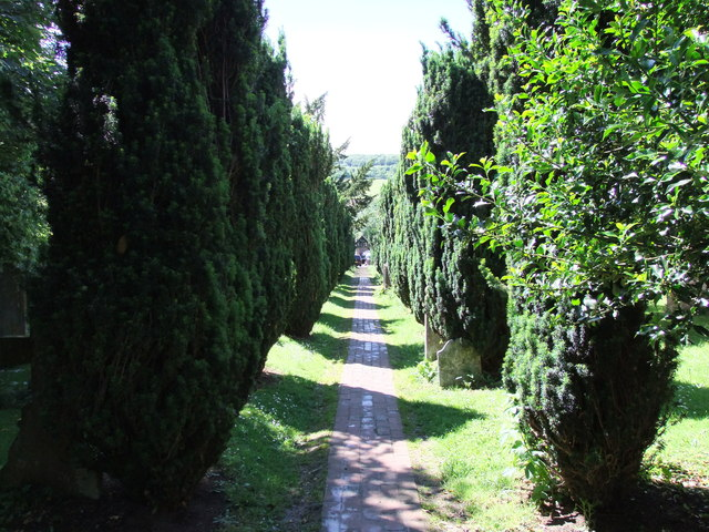 Footpath through grounds of St. Peter and St. Paul Church Shoreham