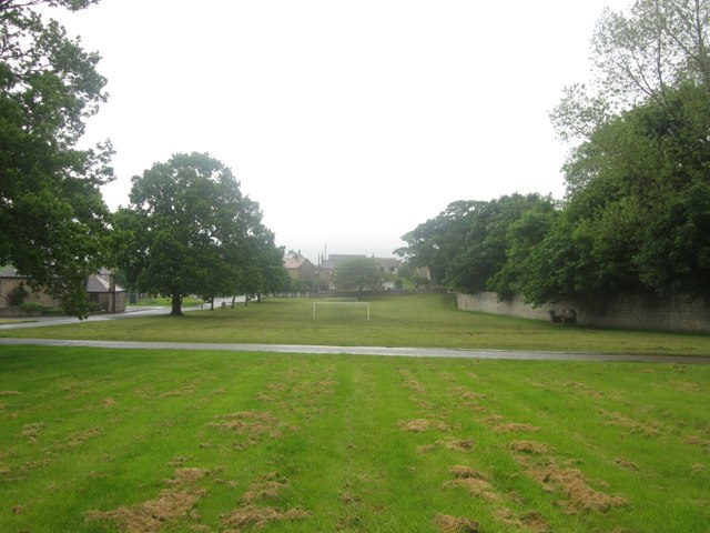 Football pitch on East Ord Village Green