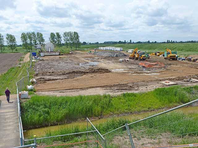Construction site for the Lincs offshore windfarm