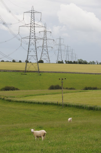 Pylons across the landscape