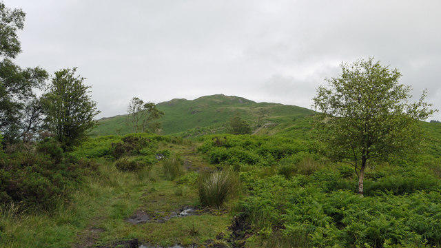 Path rising to summit of Muncaster Fell