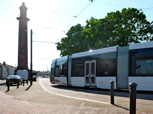 Upper Lighthouse with a Flexity 2 Tram