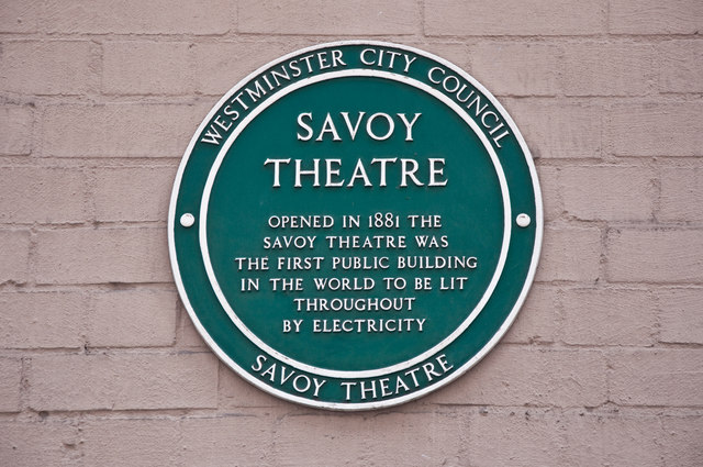 Plaque - Savoy Theatre, London