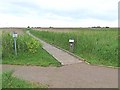 TG0544 : Path to the hides, Cley Marshes Nature Reserve by Oliver Dixon