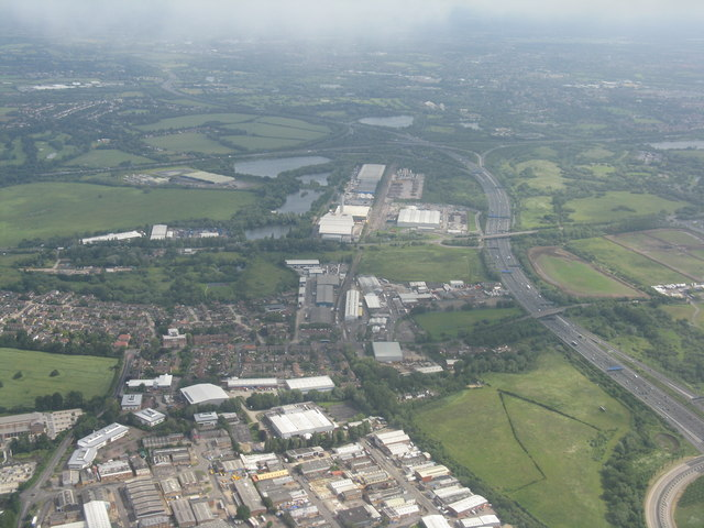 The M25 just west of Heathrow