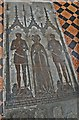 TQ7126 : Brass of Sir William Etchingham, wife and son, Etchingham church by Julian P Guffogg