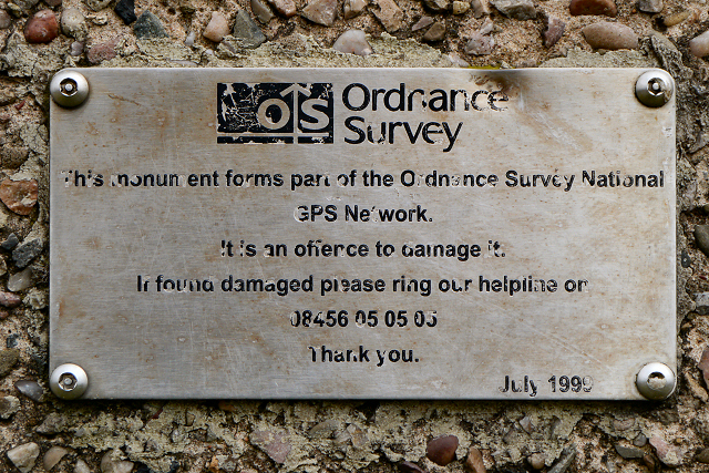OS Plaque on Crow Knowl Triangulation Pillar