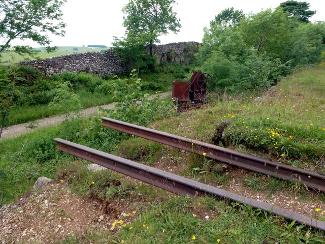 Former loading platform on the High Peak Trail