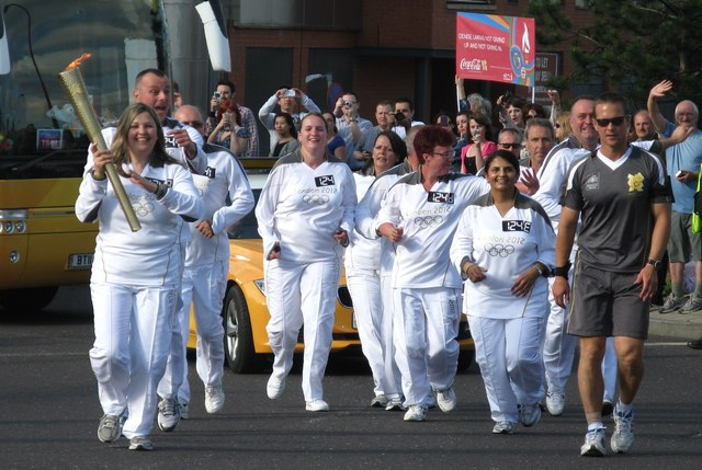 The Olympic Torch at Shalesmoor