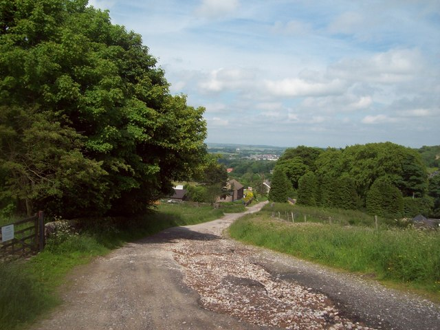 Macclesfield Old Road on the Outskirts of Buxton
