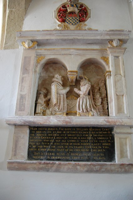 Memorial to William Jefferay and Family, Chiddingly church