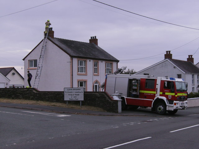 Crymych Fire Brigade in action