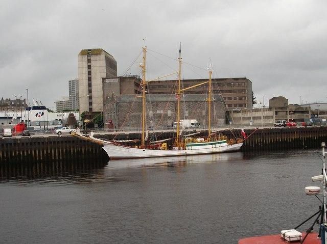 Zawisza Czarny moored in Aberdeen harbour
