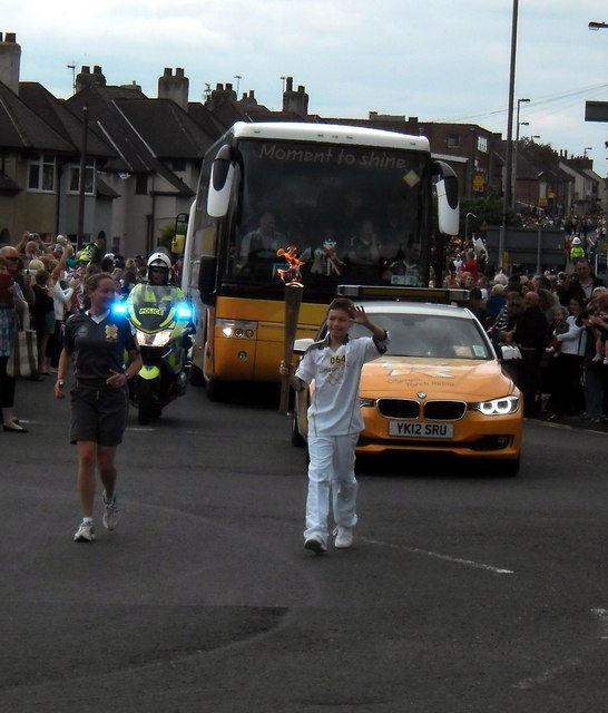 Olympic Flame comes to Glasshoughton Castleford,