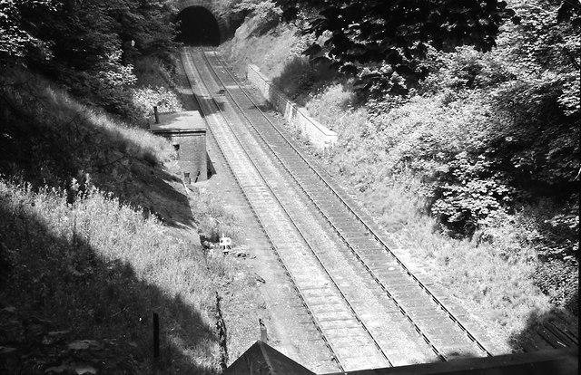 Derelict rail line near Kidsgrove