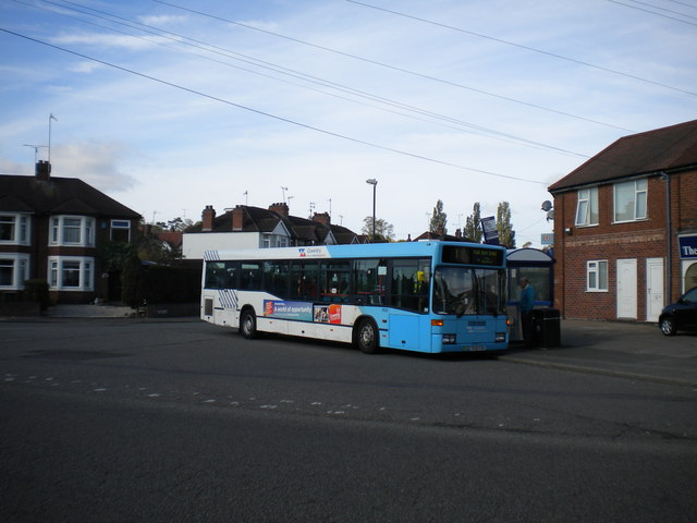 Bus at Grayswood Avenue bus terminus