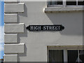 SP2864 : Enamelled street nameplate, High Street by Robin Stott