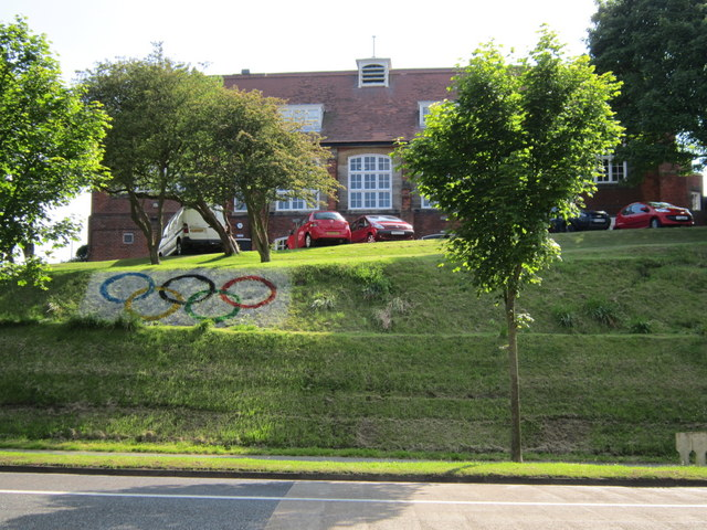 The Olympic rings outside Scarborough College