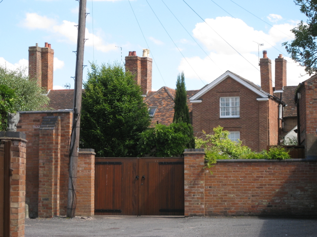 Rear of houses, High Street