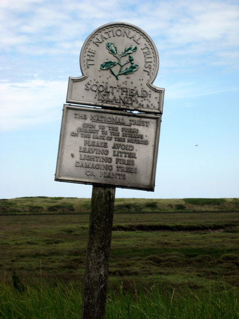 Scolt Head National Trust sign