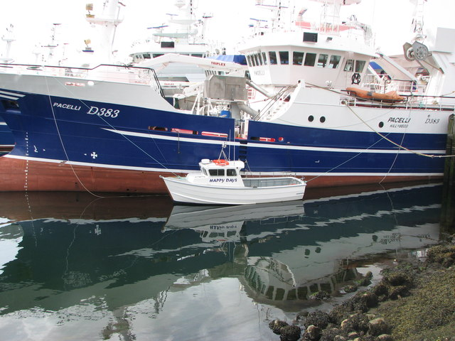 Little and large fishing boats