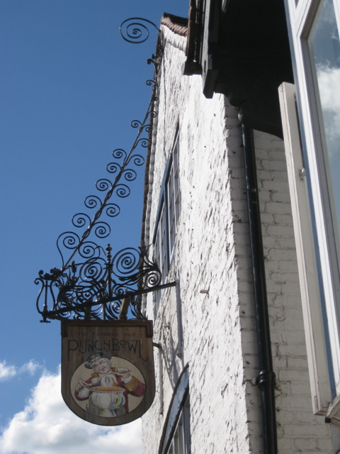 Wrought iron pub sign bracket, the Butts