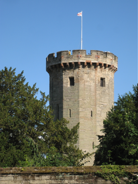 Northwest side of Guy's Tower, Warwick Castle