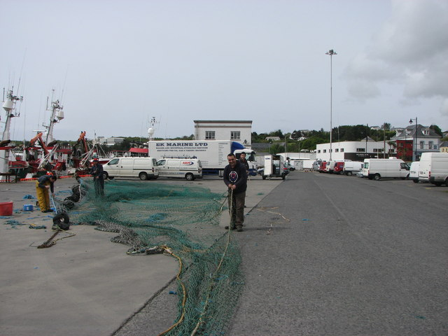 Repairing the nets, Killybegs