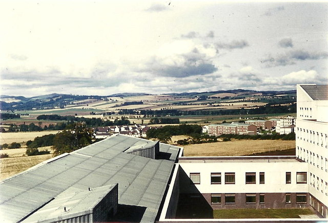 The view looking west from Ninewells Hospital