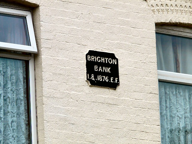 Brighton Bank 1876 date plaque