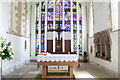 TF0267 : Chancel with sedilia and new window, All saints' , Branston by J.Hannan-Briggs