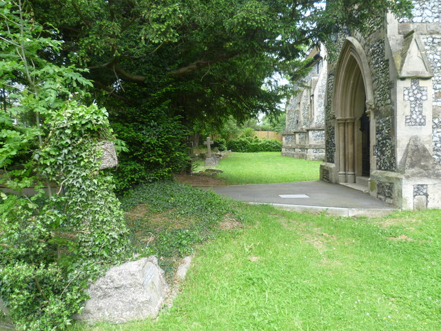 The north doorway of All Saints Church, Benhilton