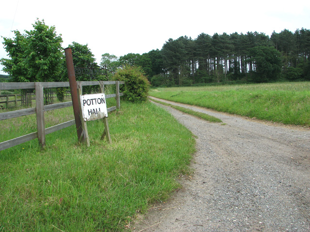 Access road to Potton Hall
