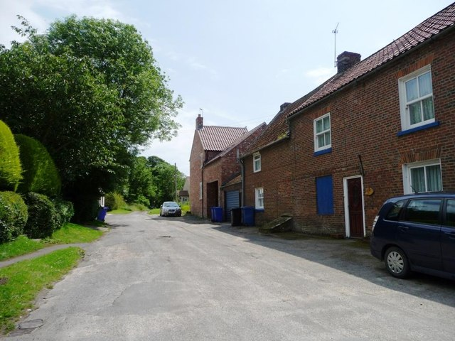 Houses on the lane to Reighton Hall