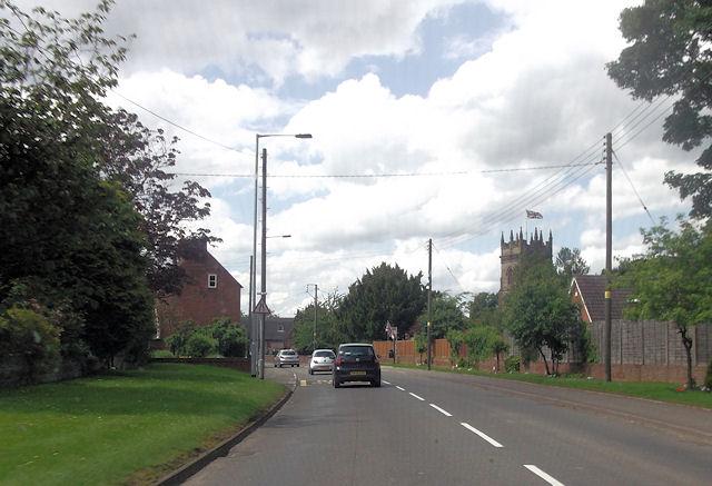 Road west through Haughton
