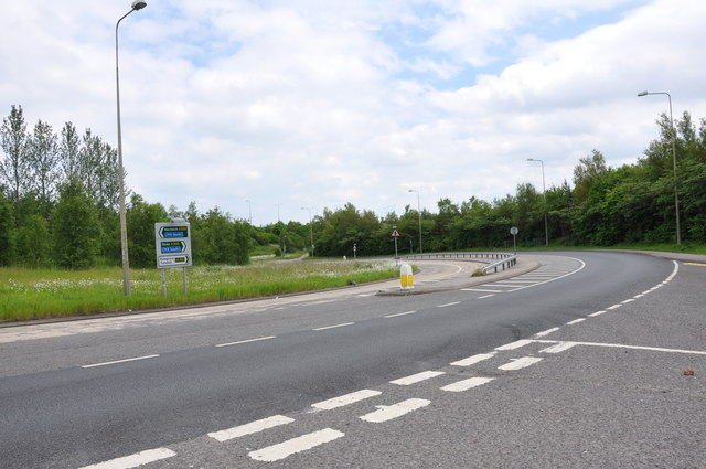 Feeder road for the A500 at the Chatterley junction